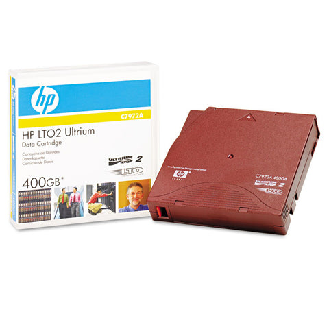 "1/2"" Ultrium Lto 2 Cartridge, 1998ft, 200gb Native/400gb Compressed Capacity"