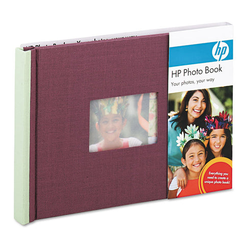 Expandable Photo Book, 25 Pages, 5 1/2 X 7 1/2, Plum/sage, Cloth Cover