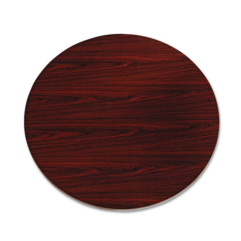 "10500 Series Round Table Top, 42"" Diameter, Mahogany"