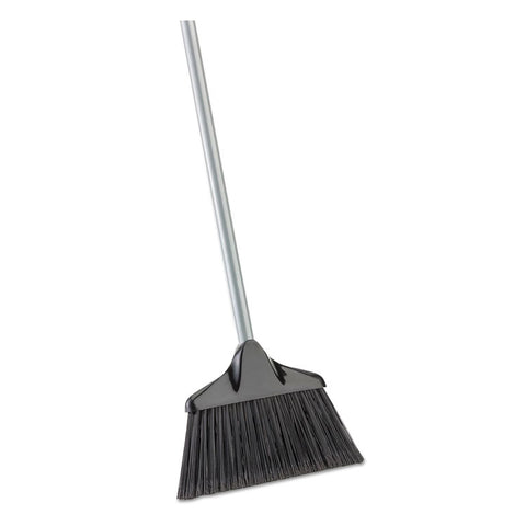 "HOUSEKEEPER BROOM, 54"" OVERALL LENGTH, STEEL HANDLE, BLACK/GRAY, 6/CT"