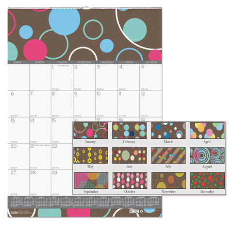 100% RECYCLED BUBBLELUXE WALL CALENDAR, 12 X 12, 2019