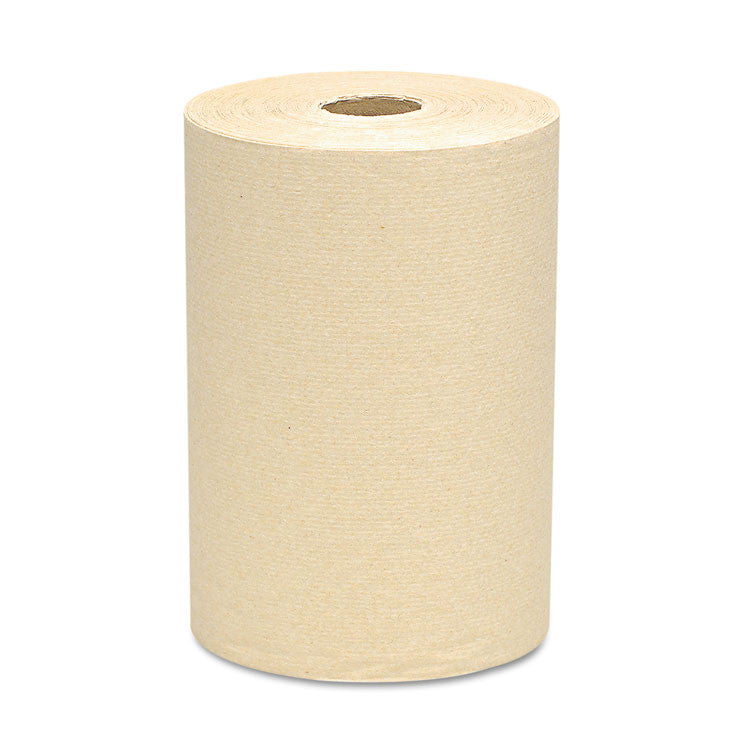 "100% Recycled Fiber Hard Roll Towels, Natural, 8"" X 800ft, 12 Rolls/carton"