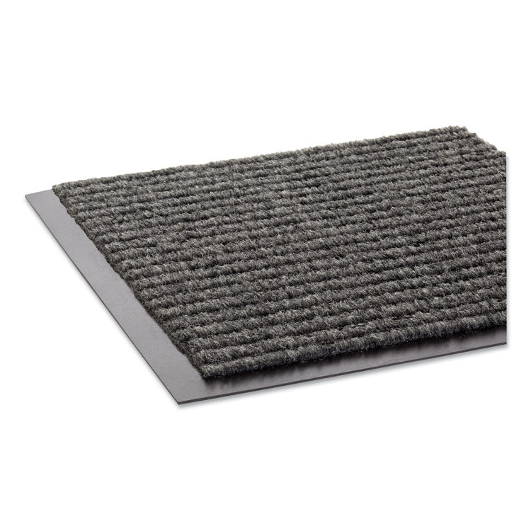Needle Rib Wipe & Scrape Mat, Polypropylene, 36 X 60, Gray