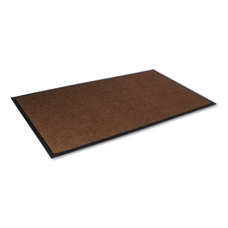 Super-Soaker Wiper Mat W/gripper Bottom, Polypropylene, 34 X 58, Dark Brown