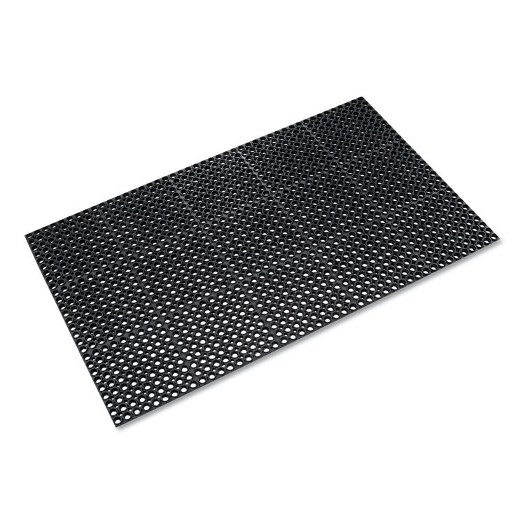 Safewalk Heavy-Duty Anti-Fatigue Drainage Mat, General Purpose, 36 X 60, Black