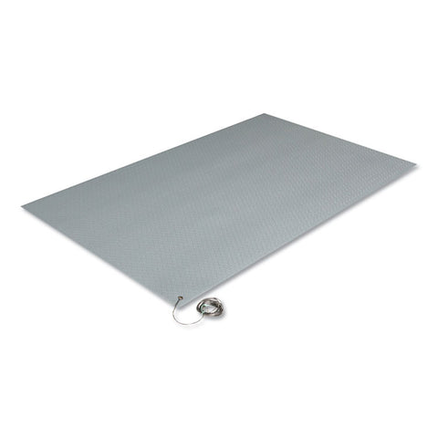 Antistatic Comfort-King Mat, Sponge, 24 X 36, Steel Gray