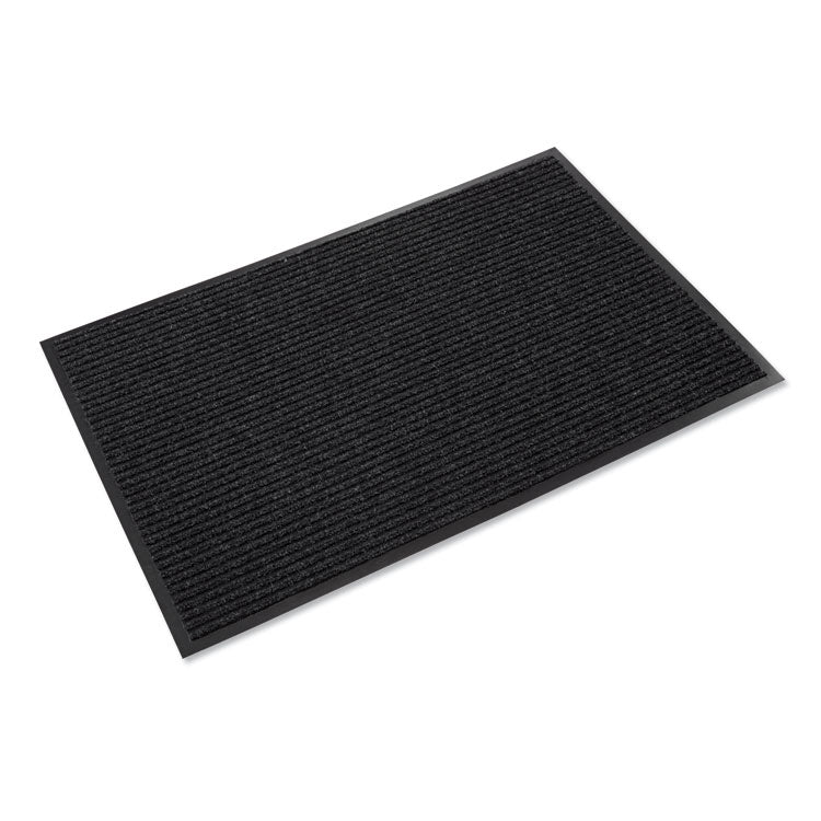 Needle Rib Wipe & Scrape Mat, Polypropylene, 36 X 60, Charcoal