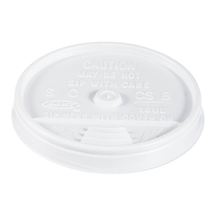 Plastic Lids, For 16oz Hot/cold Foam Cups, Sip-Thru Lid, White, 1000/carton