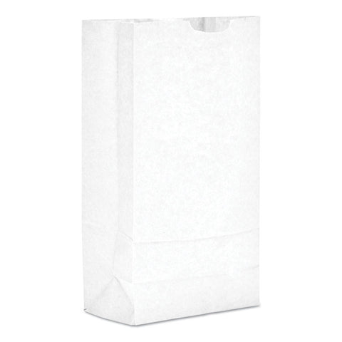 #10 Paper Grocery Bag, 35lb White, Standard 6 5/16 X 4 3/16 X 13 3/8, 500 Bags