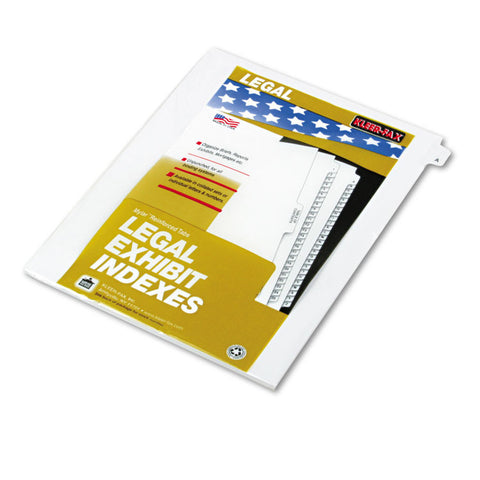 "80000 Series Legal Exhibit Index Dividers, 1/26 Cut Tab, ""a"", White, 25/pack"