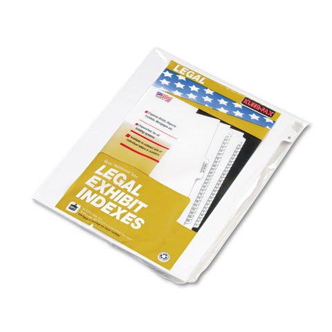 "80000 Series Legal Exhibit Index Dividers, Side Tab, ""b"", White, 25/pack"