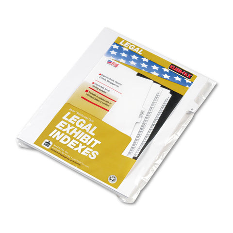 "80000 Series Legal Exhibit Index Dividers, Side Tab, ""f"", White, 25/pack"
