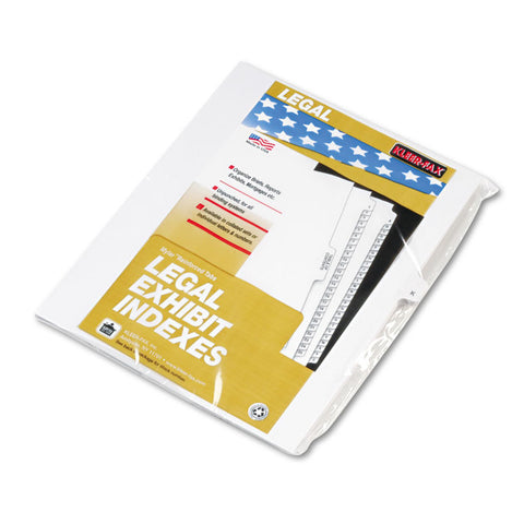 "80000 Series Legal Exhibit Index Dividers, Side Tab, ""k"", White, 25/pack"