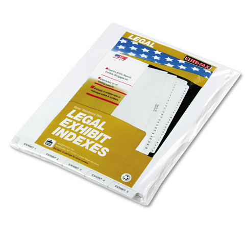 "80000 Series Bottom Tab Legal Index Dividers, ""exhibit 1"" - ""exhibit 25"""