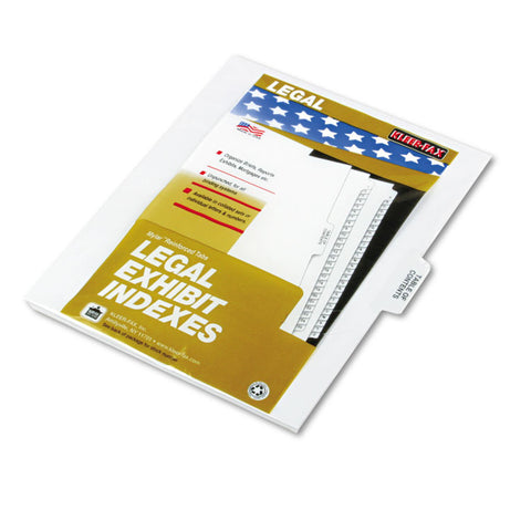 "80000 Series Dividers, 1/5 Cut Center Tabs, ""table Of Contents"", 25/pack"