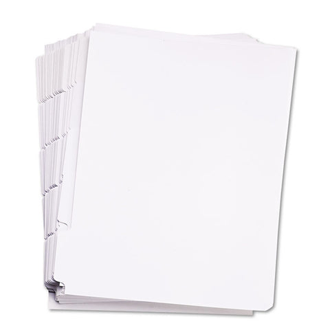 80000 Series Blank Side Tab Dividers, 5-Tab, Letter, White, Unpunched, 5 Sets