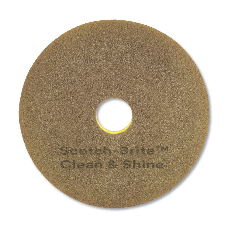 "CLEAN AND SHINE PAD, 17"" DIAMETER, YELLOW/GOLD, 5/CARTON"