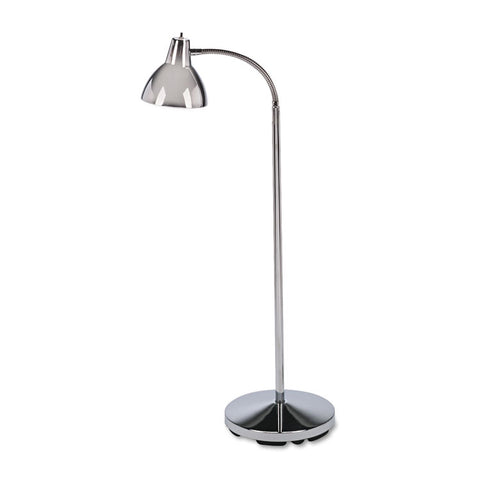 "Classic Incandescent Exam Lamp, Three Prong, 74""h, Gooseneck, Stainless Steel"