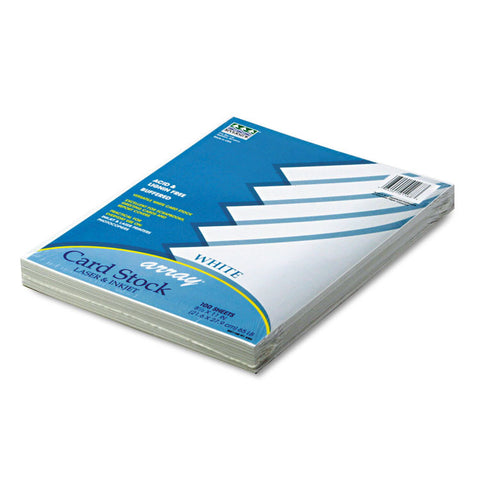 Array Card Stock, 65 Lb., Letter, White, 100 Sheets/pack