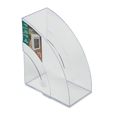 Optimizers Deluxe Plastic Magazine Rack, 5 1/4 X 9 X 11 1/8, Clear