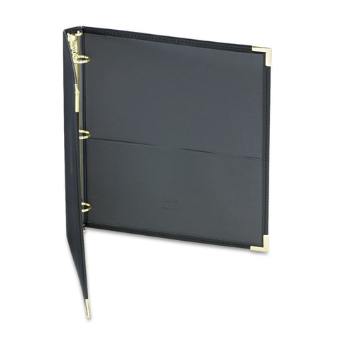"Classic Collection Ring Binder, 11 X 8 1/2, 1"" Cap, Black"