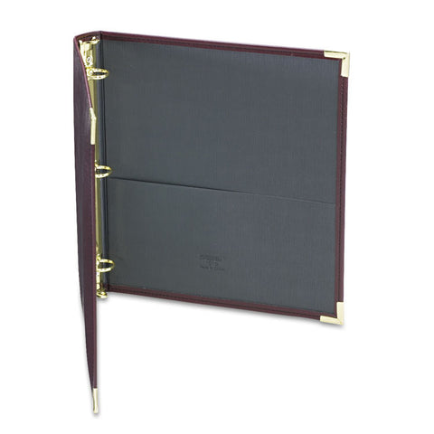 "Classic Collection Ring Binder, 11 X 8 1/2, 1"" Cap, Burgundy"