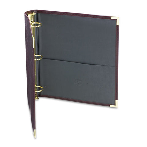 "Classic Collection Ring Binder, 11 X 8 1/2, 1 1/2"" Cap, Burgundy"