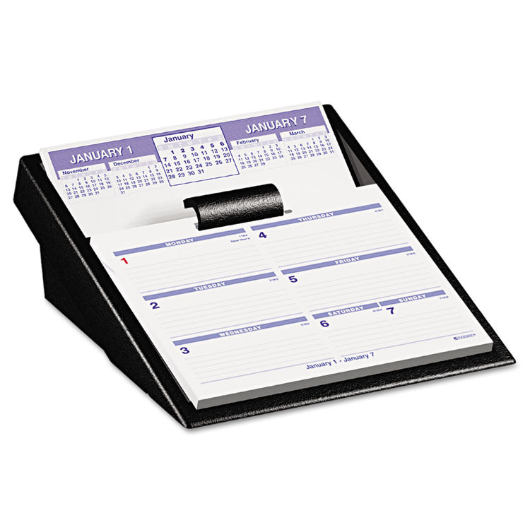 Flip-A-Week Desk Calendar Refill, 5 5/8 X 7, White, 2017
