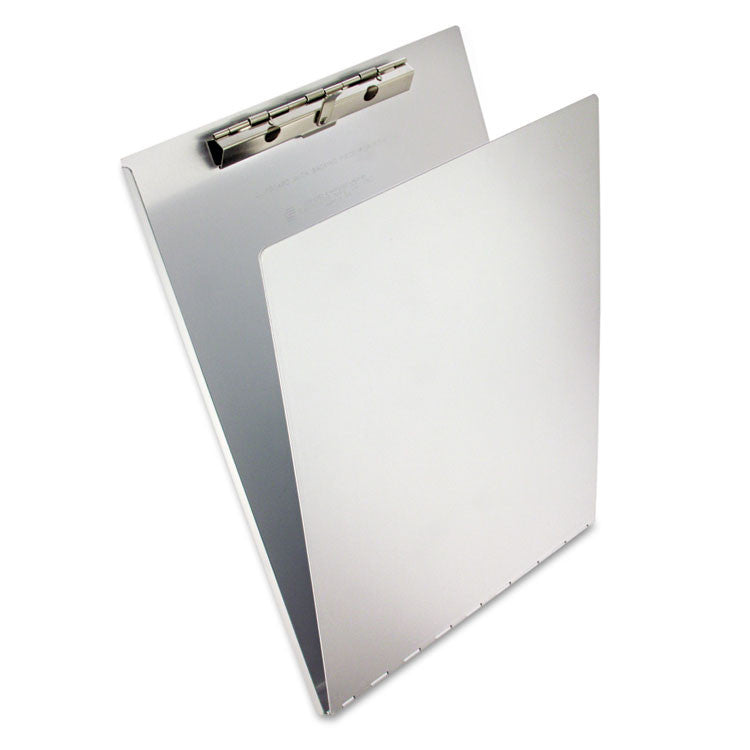 "Aluminum Clipboard W/writing Plate, 3/8"" Clip Cap, 8 1/2 X 12 Sheets, Silver"