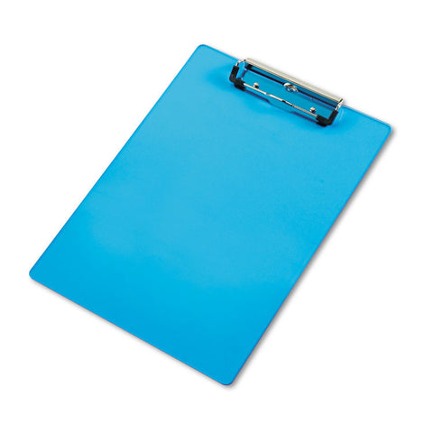 "Acrylic Clipboard, 1/2"" Capacity, Holds 8-1/2w X 12h, Transparent Blue"