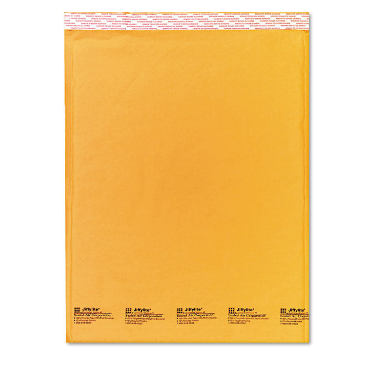 Jiffylite Self Seal Mailer, #7, 14 1/2 X 20, Golden Brown, 10/pack