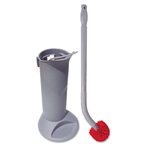 Ergo Toilet Bowl Brush System: Wand, Brush Holder & 2 Heads