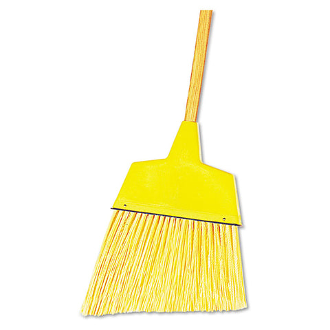 "Angler Broom, Plastic Bristles, 42"" Wood Handle, Yellow, 12/carton"