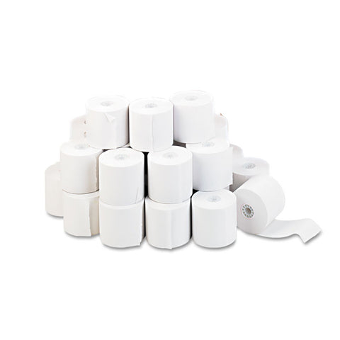"Adding Machine/calculator Roll, 16 Lb, 1/2"" Core, 2-1/4"" X 130 Ft, White, 100/ct"