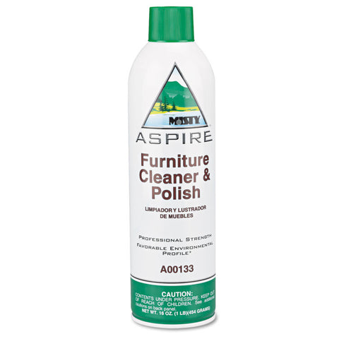 Aspire Furniture Cleaner & Polish, Lemon Scent, 16oz Aerosol