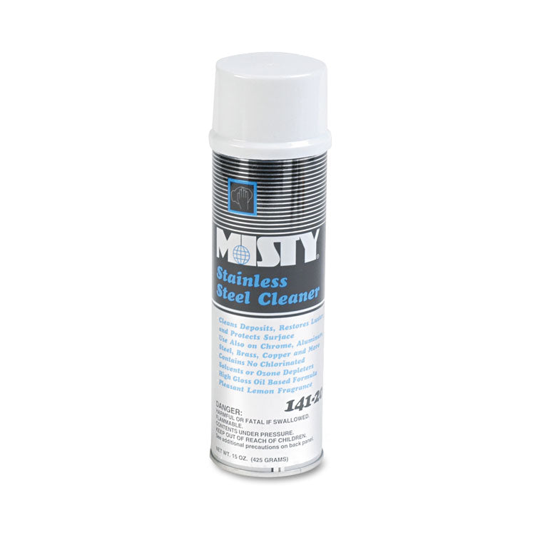 Stainless Steel Cleaner & Polish, Lemon Scent, 15oz Aerosol, 12/carton