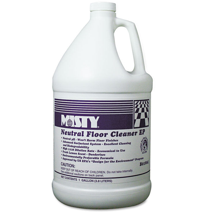 Neutral Floor Cleaner Ep, Lemon, 1gal Bottle