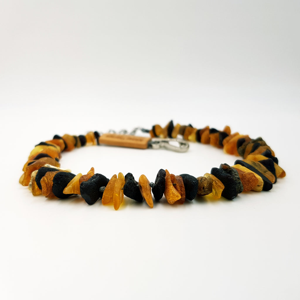 Medium Dog Multi Amber Collar