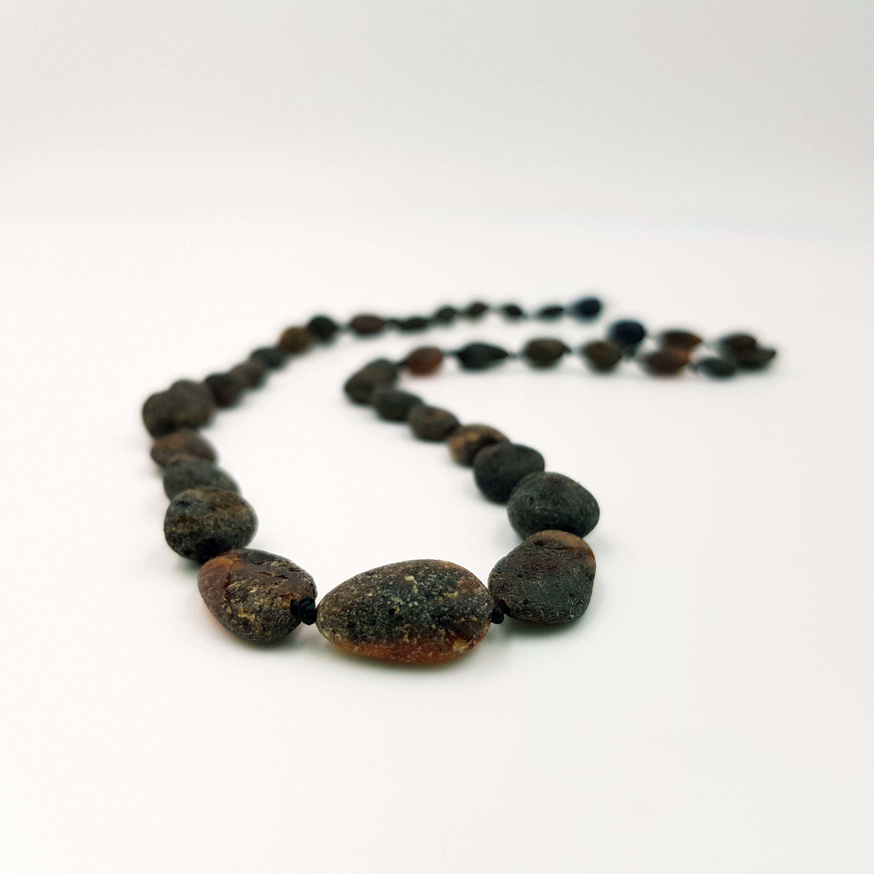 Adult Raw Earth Bean Amber Necklace
