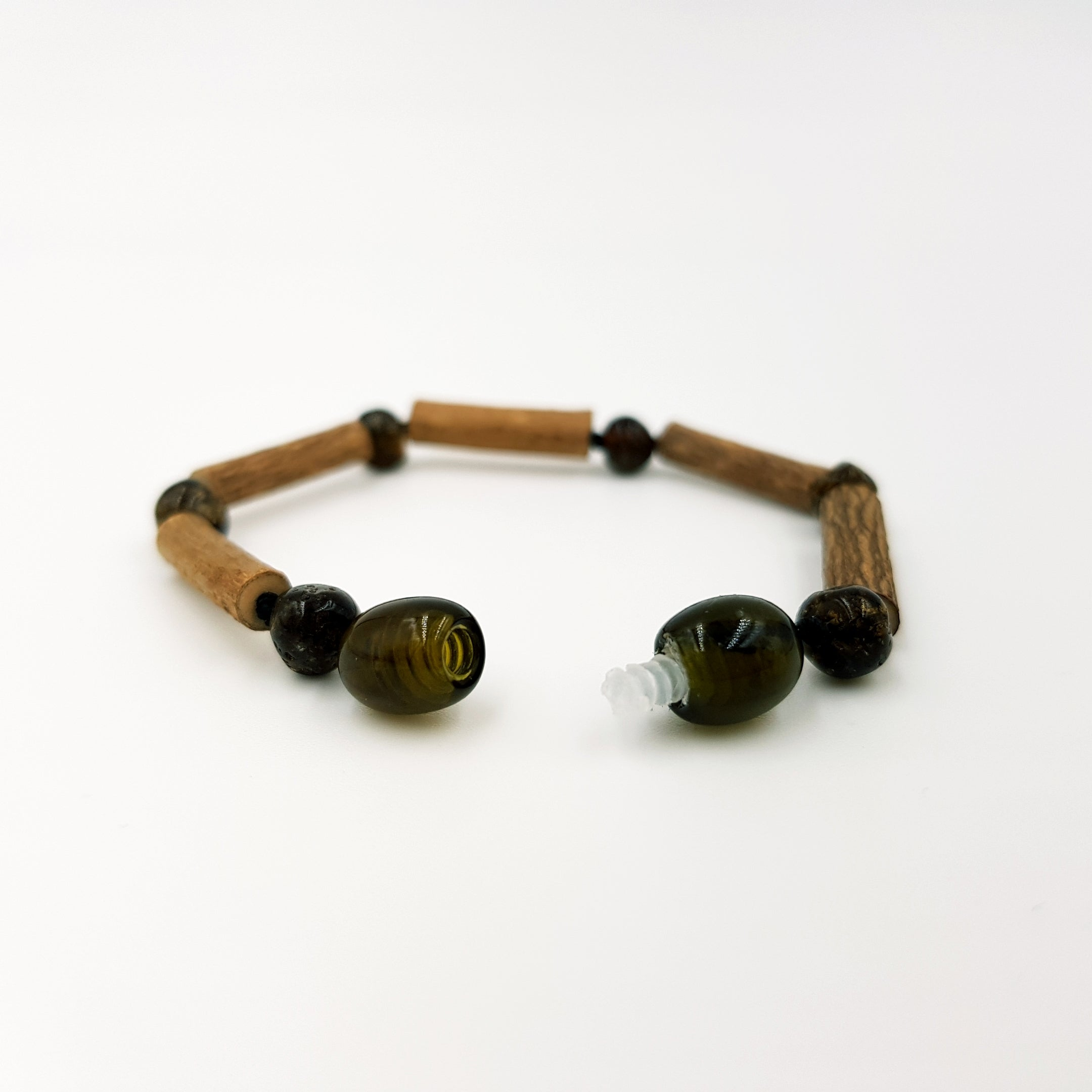 Child Earth Amber & Hazelwood Anklet