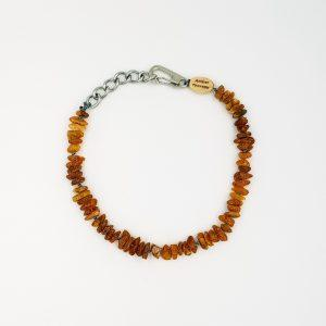 Medium Dog Toffee Amber Collar