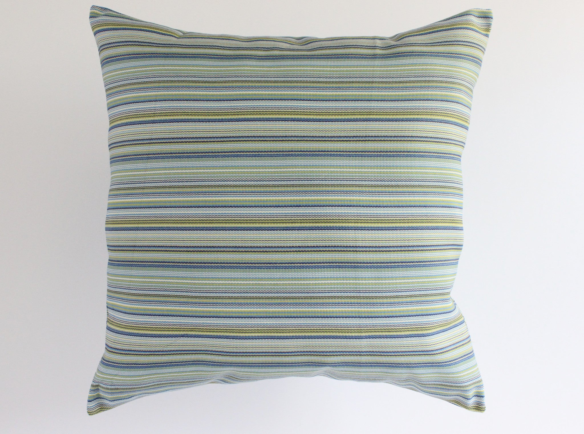 Blue-Green Outdoor Pillow