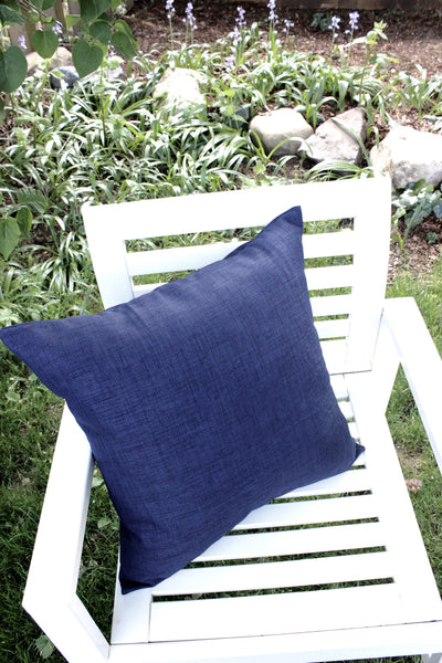 Indigo Blue Outdoor Pillow