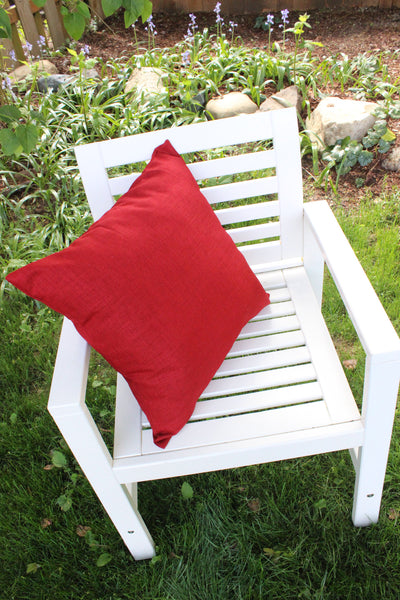 Cherry Red Outdoor Pillow