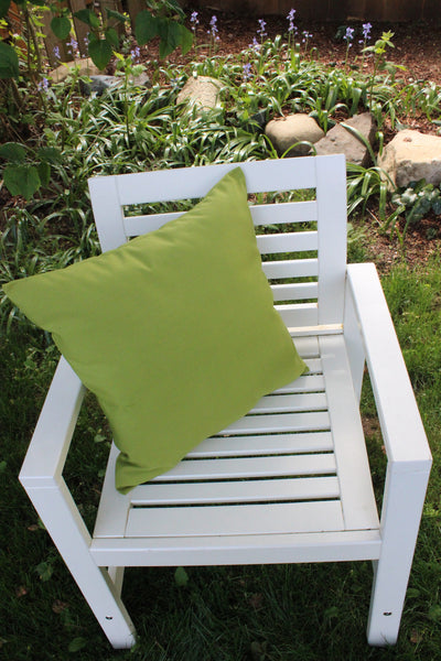 Kiwi Green Outdoor Pillow