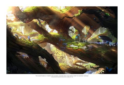 "Giclee Print - 13x19"" The Adventures of Marvin and George: Escape of the Forest of Lyess"