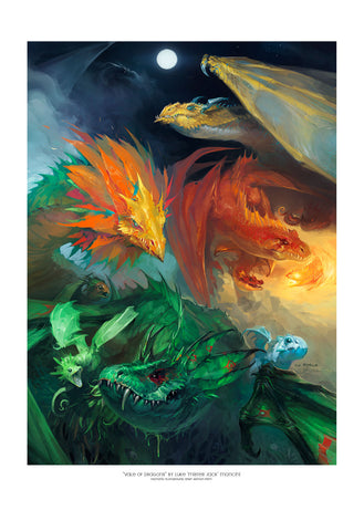 "Giclee Print - 13x19"" Vale of Dragons"