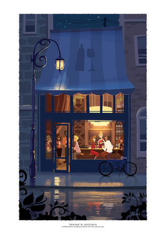 "Giclee Print - 13x19"" Wine Bar"