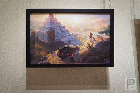 "Large Framed Art - 11x17"" Marty Meets Mesoamerica"