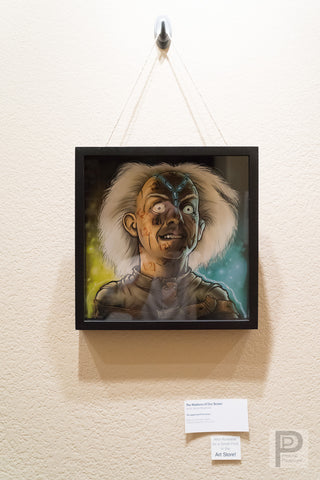 "Large Framed Art - 12x12"" The Madness of Doc Brown"
